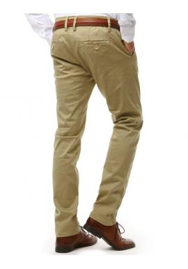 Sivé elegantné nohavice Chinos pre pánov