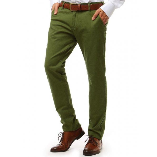 Pánske elegantné nohavice Chinos v béžovej farbe