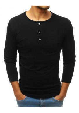 Pánske bavlnené tričká s dlhým rukávom v sivej farbe