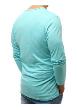 Klasické pánske tričko červenej farby s dlhým rukávom