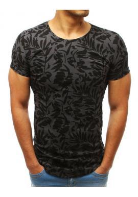 Štýlové pánske tričko tmavosivej farby s potlačou