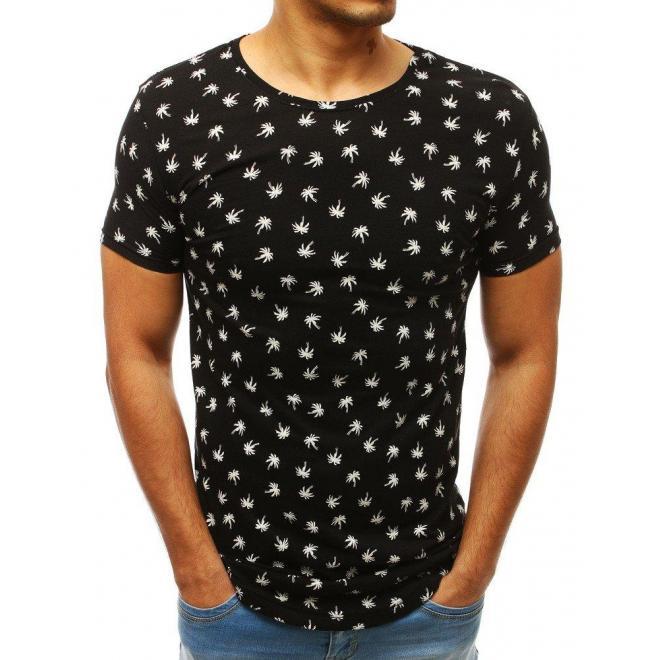 Pánske módne tričko s motívom ananásov v bielej farbe