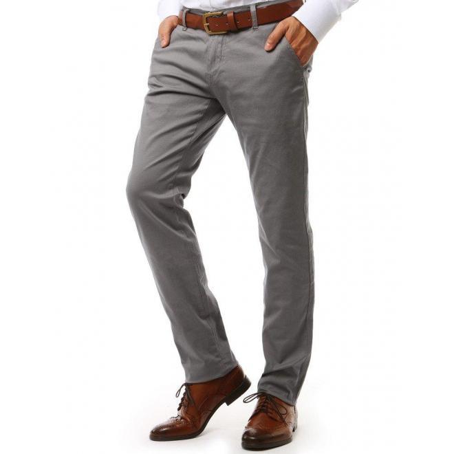 Klasické nohavice Chinos pre pánov v béžovej farbe