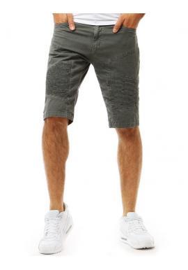 Pánske módne šortky s prešívaním v tmavomodrej farbe