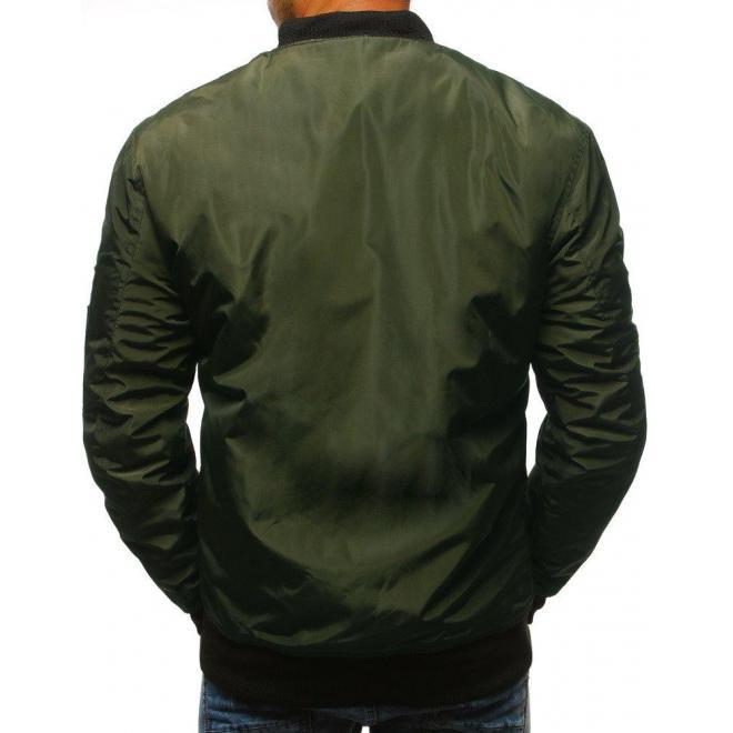 Prechodná pánska Bomber bunda čiernej farby