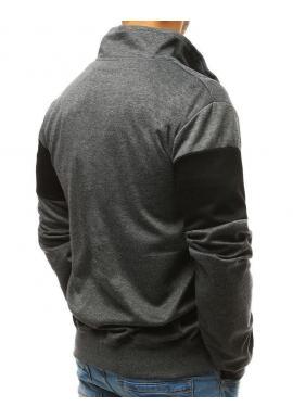 Módna pánska mikina čiernej farby s kontrastnými vložkami