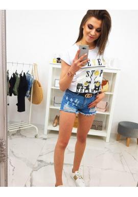 Malinové štýlové tričko s potlačou pre dámy