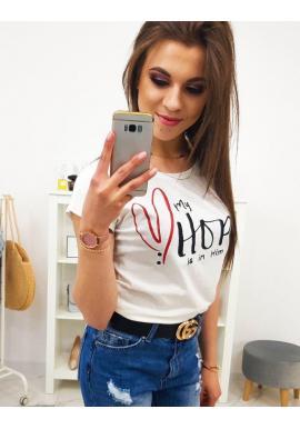 Čierne bavlnené tričko s potlačou pre dámy