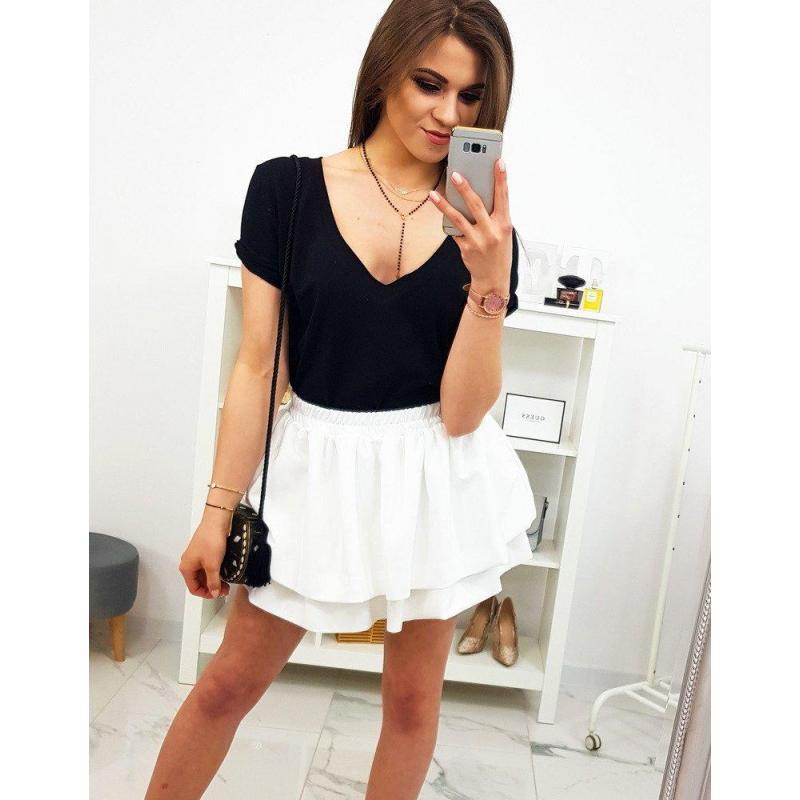 05725eca784f Klasické dámske tričko čiernej farby s krátkym rukávom - skvelamoda.sk