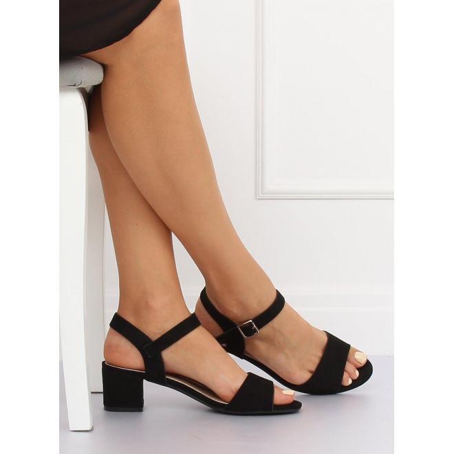 Dámske pohodlné sandále s jemným vyvýšením v žltej farbe