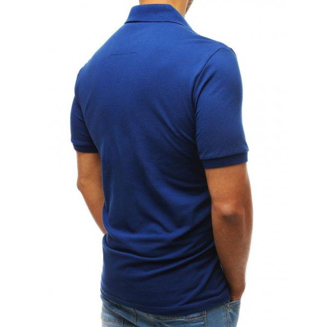 Bavlnená pánska polokošeľa modrej farby