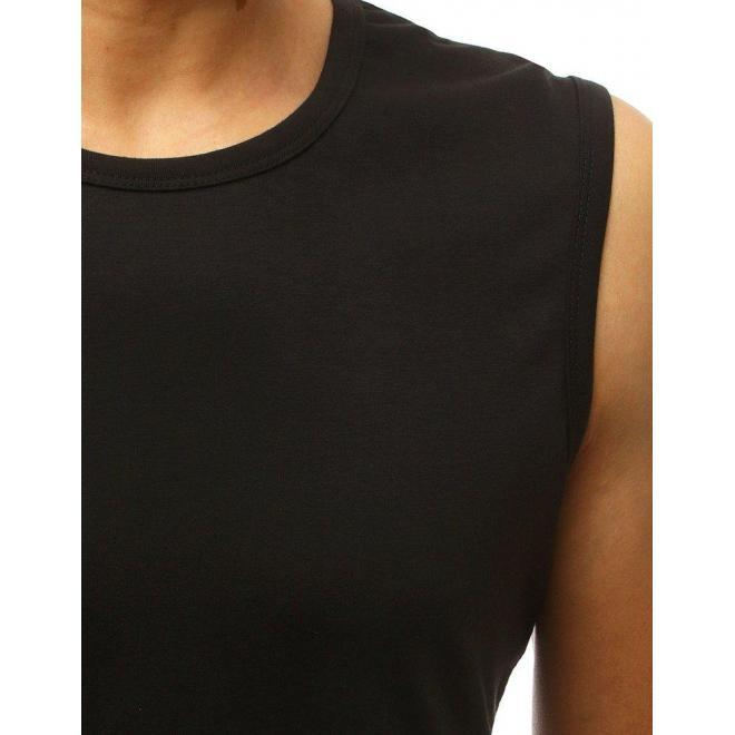 Klasické pánske tričko tmavomodrej farby bez rukávov