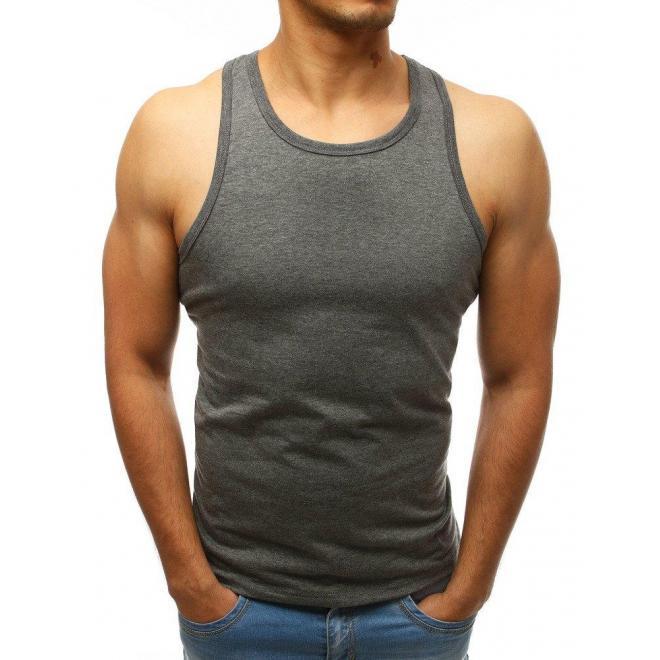 Klasické pánske tričko čiernej farby bez rukávov