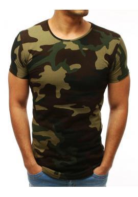 439bce9e1de0 Módne pánske tričko zelenej farby s potlačou ...
