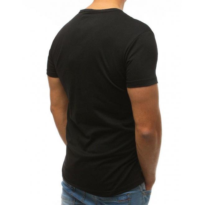 Svetlosivé módne tričko s potlačou pre pánov