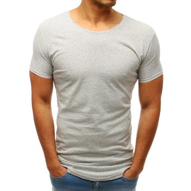 Pánske bavlnené tričko s gitarami v bielej farbe