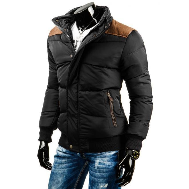 Dlhšia zimná bunda v čiernej farbe pre pánov