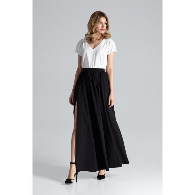 Ceruzková dámska sukňa hnedej farby