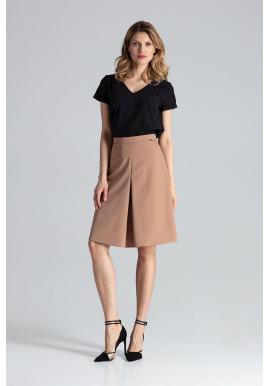 a427aebb8c2c Dámska dlhá sukňa s nariasením v páse v korálovej farbe ...