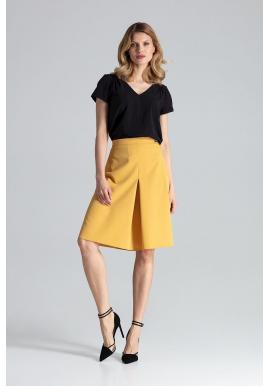 Dámska áčková sukňa v hnedej farbe