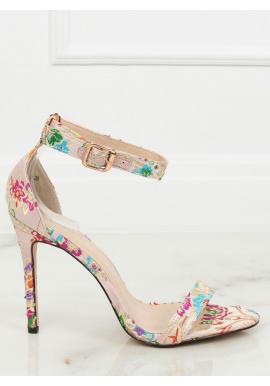 867e2799ad49 Dámske orientálne sandále na podpätku s výšivkou v čiernej farbe ...