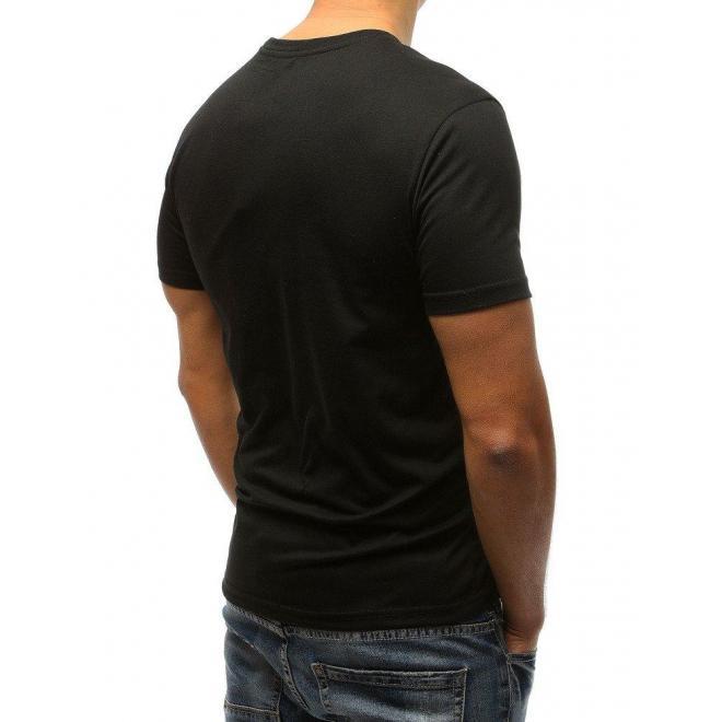 Svetlomodré športové tričko s potlačou pre pánov