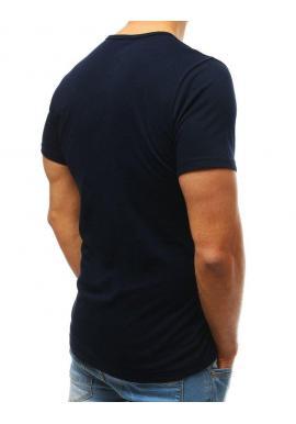 444b2ae85576 ... Bavlnené pánske tričko čiernej farby s gombíkmi