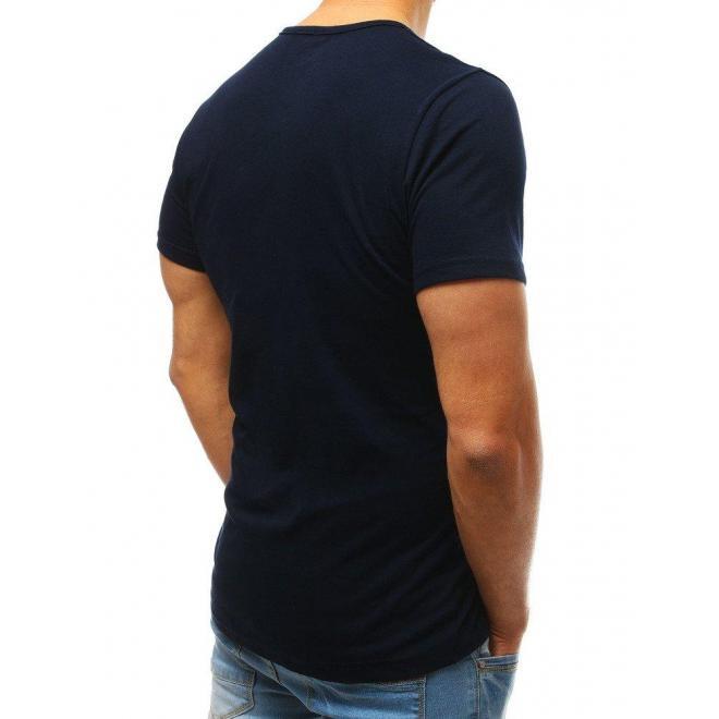 Bavlnené pánske tričko čiernej farby s gombíkmi