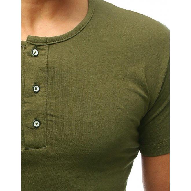 Mätové bavlnené tričko s gombíkmi pre pánov