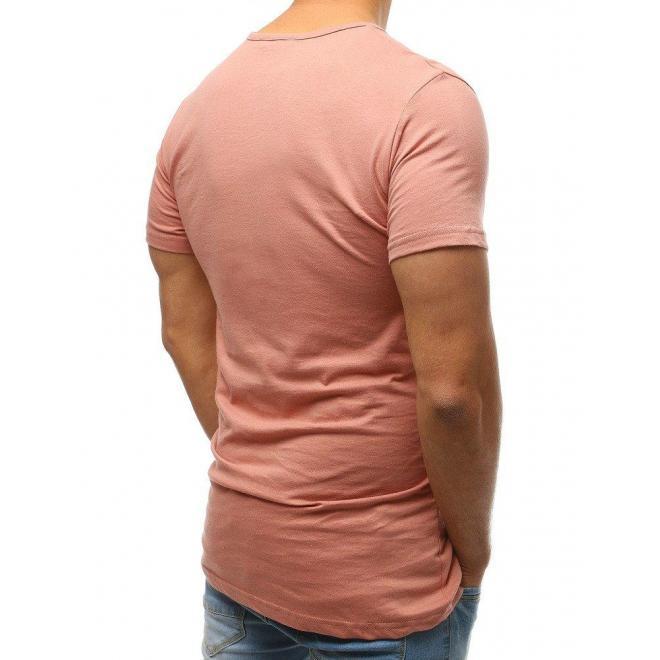 Pánske bavlnené tričko s gombíkmi v bordovej farbe