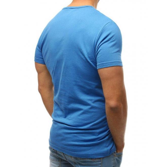 Pánske bavlnené tričko s gombíkmi v lososovej farbe