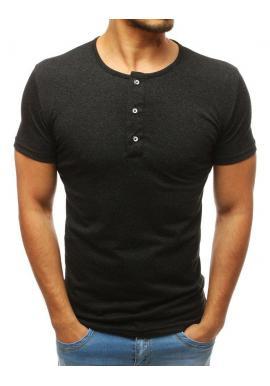 028a1fd64624 Červené bavlnené tričko s gombíkmi pre pánov ...