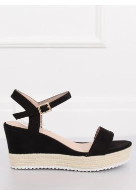 Zelené semišové sandále na platforme pre dámy