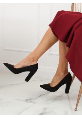 Korálové ombre lodičky na podpätku pre dámy