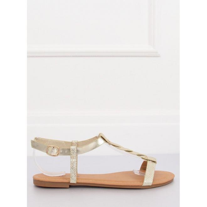 Štýlové dámske sandále čiernej farby s motívom hadej kože