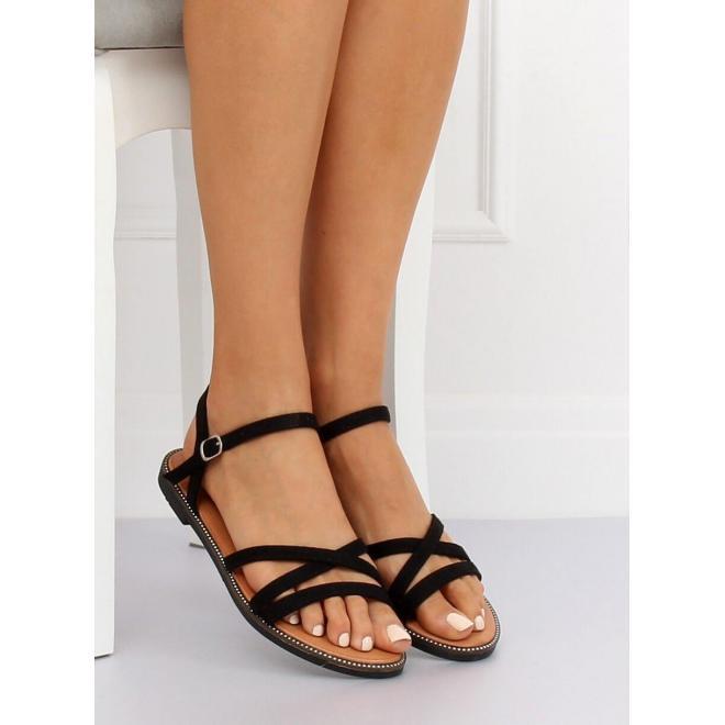 Žlté semišové sandále so zlatou ozdobou pre dámy