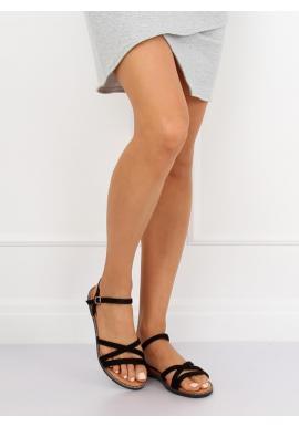 c28fc5cc248d ... Žlté semišové sandále so zlatou ozdobou pre dámy
