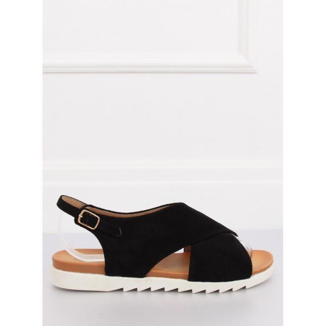 Semišové dámske sandále zelenej farby