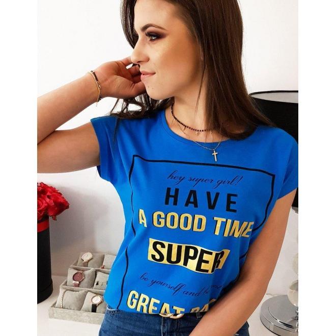 Smotanové módne tričko s potlačou pre dámy