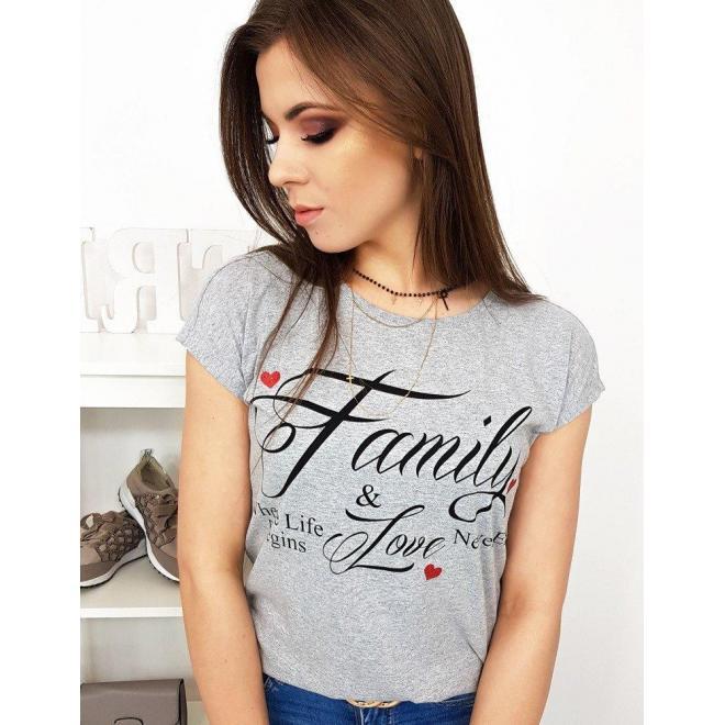 Dámske bavlnené tričko s potlačou v limetkovej farbe