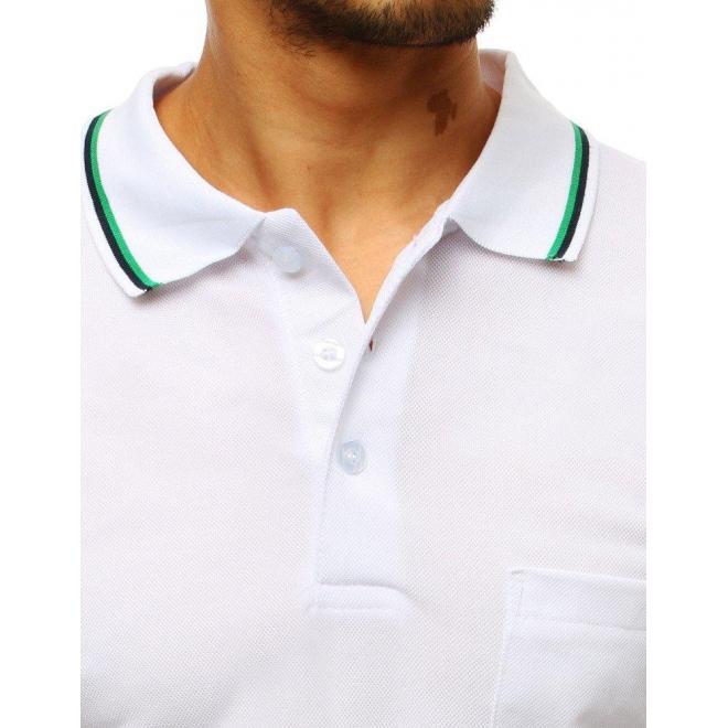 Biela klasická polokošeľa s vreckom na hrudi pre pánov