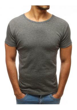 Tmavomodré tričko s okrúhlym výstrihom pre pánov
