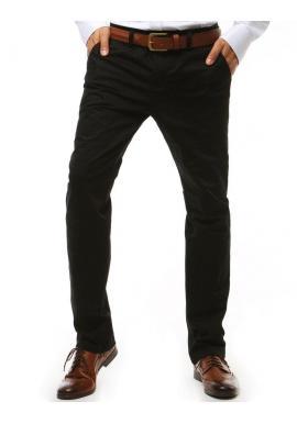 Klasické pánske nohavice Chinos čiernej farby