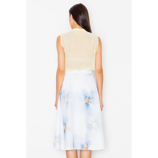 Dámska úzka sukňa s vyšším pásom v sivej farbe