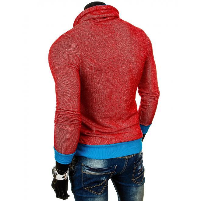Mikina pre pánov v červeno modrej farbe