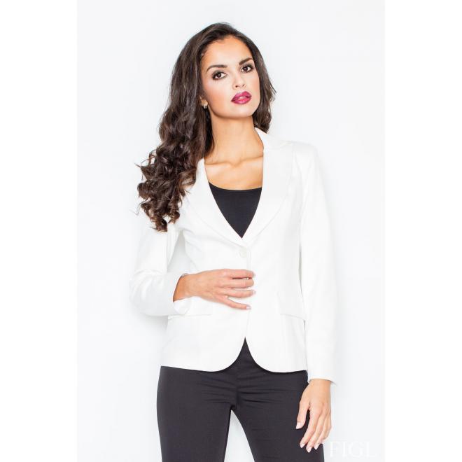 Dámske elegantné sako s dlhým rukávom v čiernej farbe