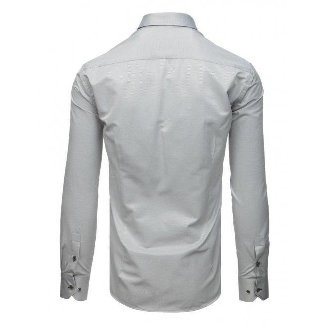 Modrá elegantná košeľa so vzorom pre pánov