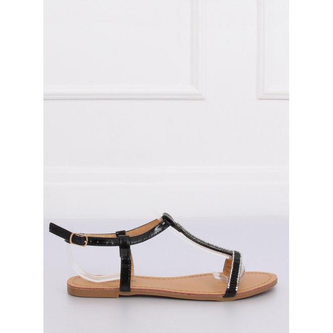 Dámske módne sandále so zirkónmi v zlatej farbe