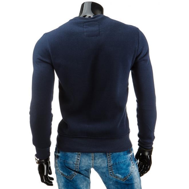 Mikina pre pánov v tmavo modrej farbe