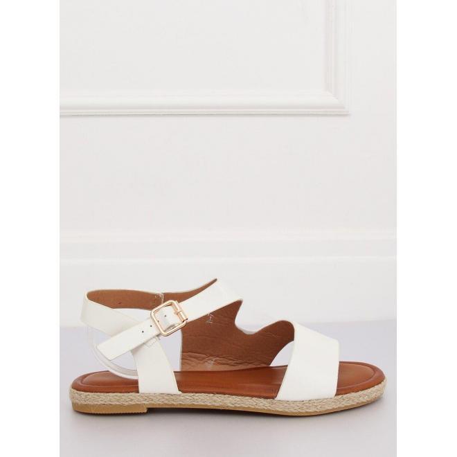 Biele asymetrické sandále pre dámy
